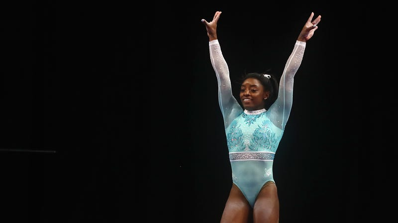 Simone Biles on day four of the U.S. Gymnastics Championships 2018 on August 19, 2018 in Boston, Massachusetts.