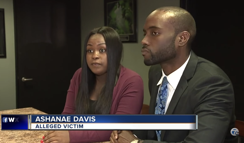 Ashanae Davis and her attorney Maurice Davis