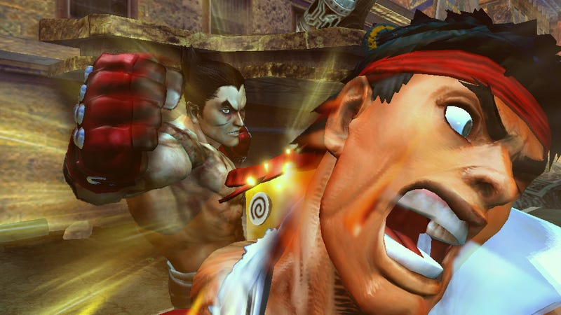 Illustration for article titled Street Fighter Gets Its Face Punched Off By Tekken