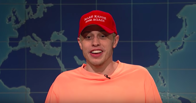 Illustration for article titled Watch: SNL's Pete Davidson Clowns Kanye's Off-Air MAGA Rant