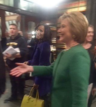 Kerry Washington and Hillary Clinton on the set of ScandalTwitter