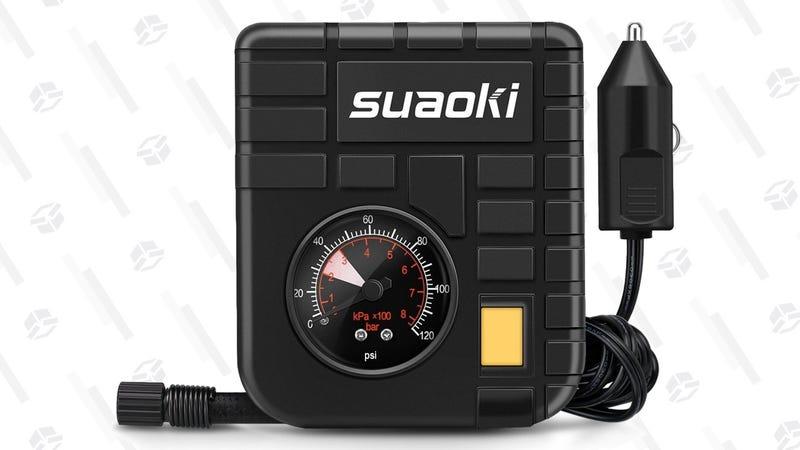 Suaoki 12V Mini Air Compressor | $12 | Amazon