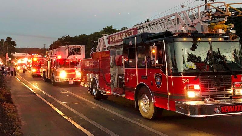 Different fire trucks.