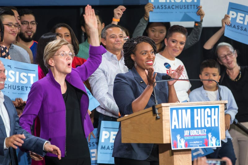 Illustration for article titled 'I Can't Wait to Call Her My President': Ayanna Pressley Backs Elizabeth Warren