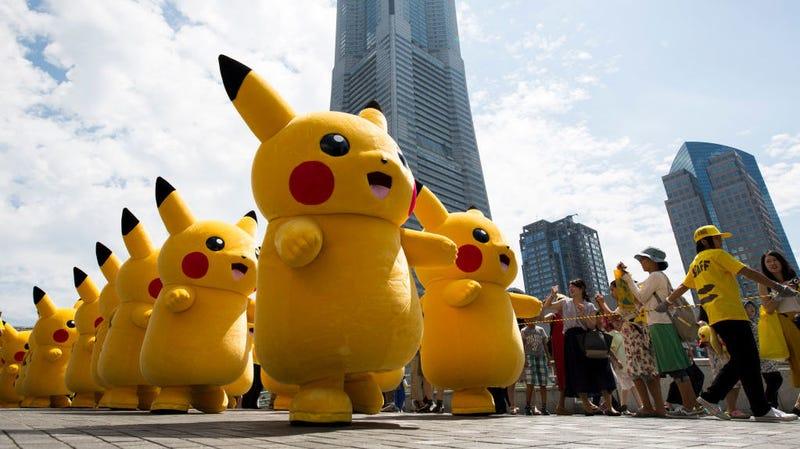 "Illustration for article titled Pikachu: ""Abolish ICE"""