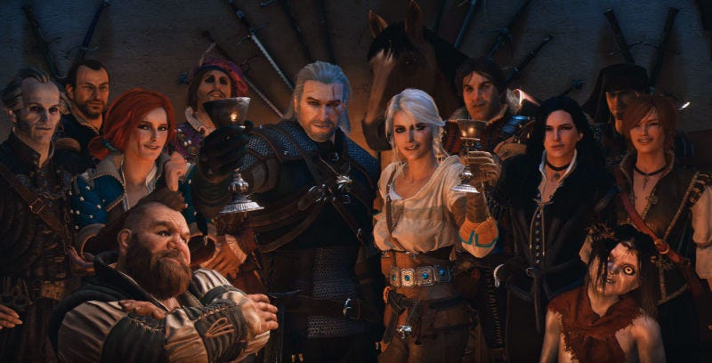 Illustration for article titled The Video Games Of 2017, As Screenshots From The Witcher 3