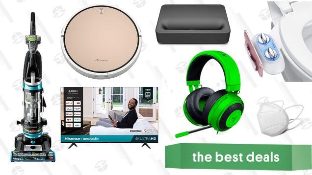 Sunday s Best Deals: Hisense 55-inch Smart TV, bObsweep Robot Vacuum, 4K UHD Laser Projector, Razer Kraken Headset, Bissell Upright Vacuum, and More