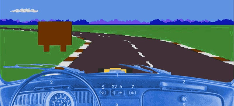Pixelated Car Driving Game