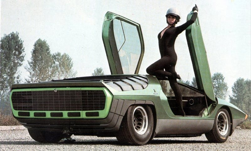 Illustration for article titled Lamborghini Doors Actually Debuted On An Alfa Romeo