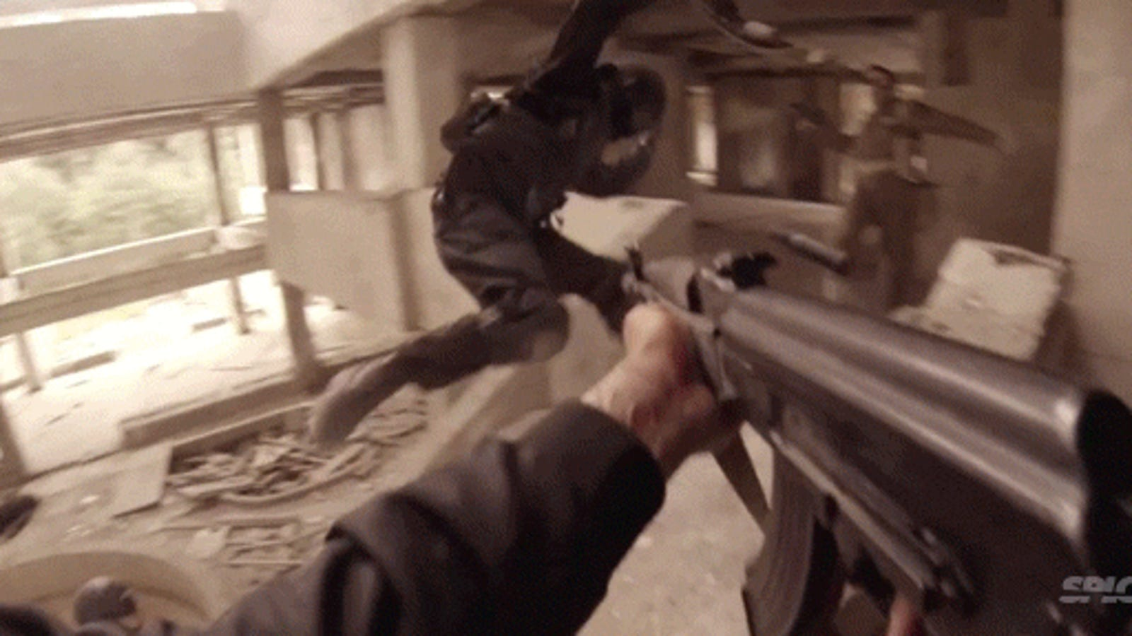 Movie filmed to look like a first person shooter game looks incredible