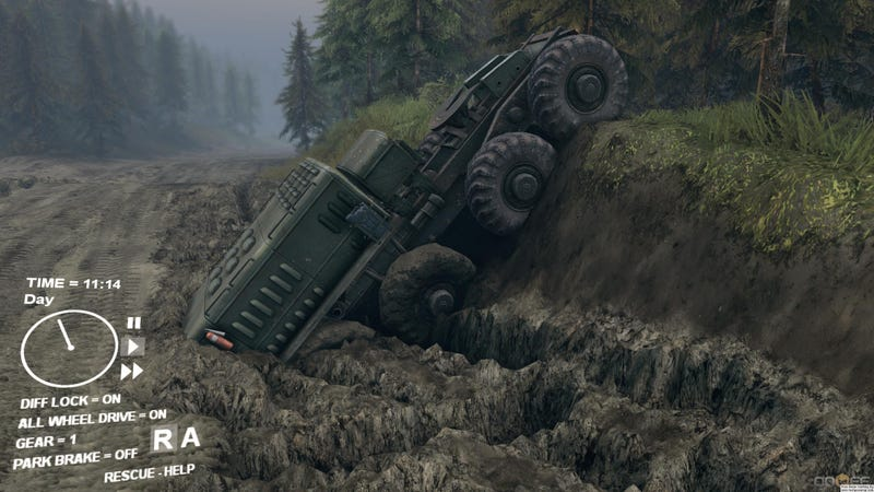 Illustration for article titled Just hours and hours of Spintires