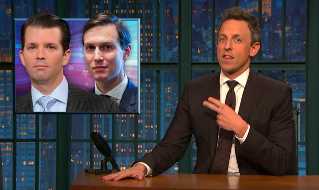 This Thanksgiving, Seth Meyers says we can at least be grateful the Trump-Russia conspirators are so stupid