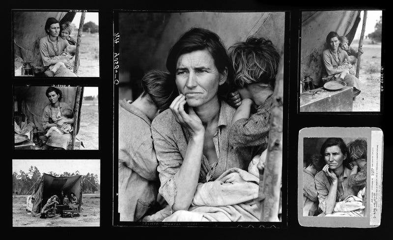 Illustration for article titled Madre migrante, una de las fotos más famosas de la historia de Estados Unidos, fue retocada