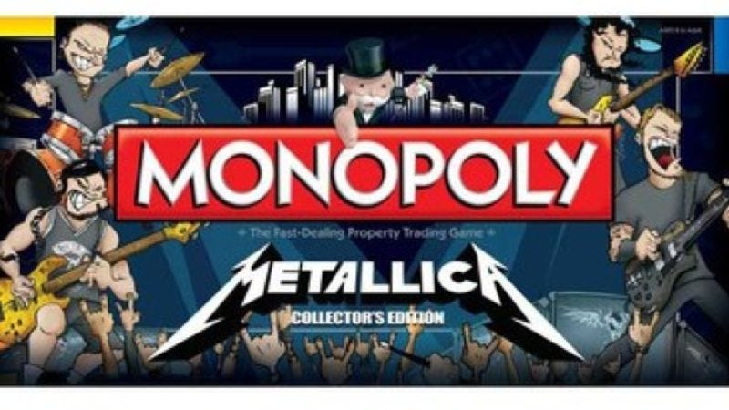Illustration for article titled Metallica Monopoly is maybe a thing that should not be, but it is