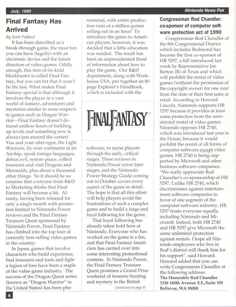 Illustration for article titled 'Final Fantasy Has Arrived'