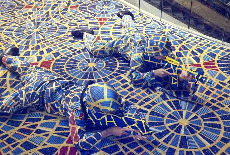 Illustration for article titled Cosplayers threatened with legal action for hotel carpet costume