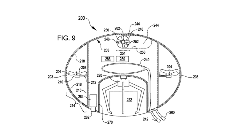 Illustration for article titled Bizarre Amazon Patent Application Suggests Jellyfish-Like Drones for Warehouses