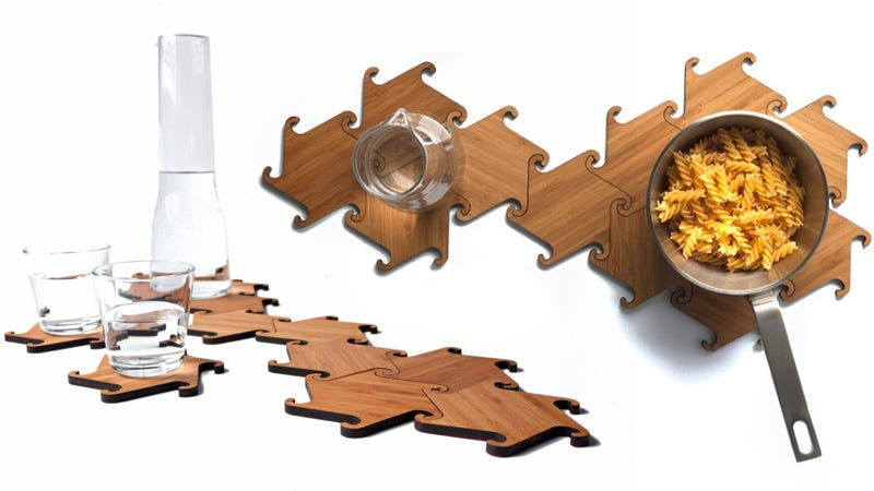 Illustration for article titled Use These Interlocking Wooden Ninja Stars As Coasters, Trivets, Or Weapons