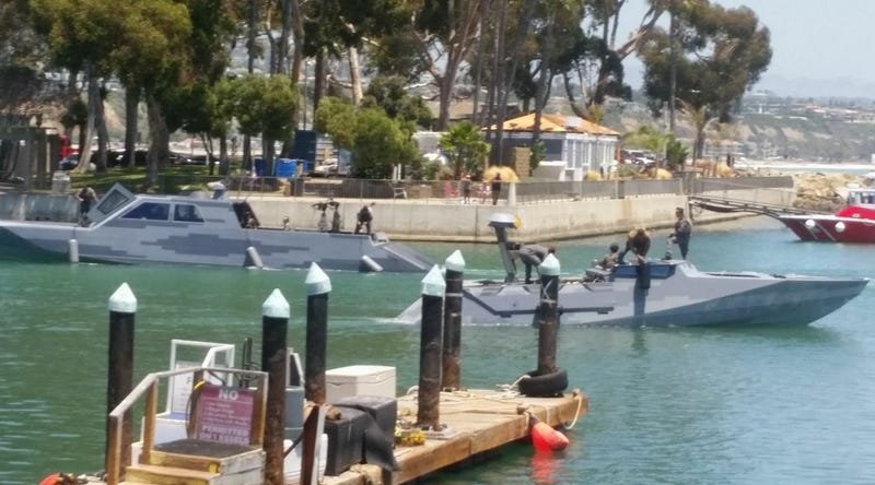 The July 12, 2017 photo from Dana Point, California that sparked guesses that the Mexican Navy had arrived in the US (Photo from BoatDesign.net)