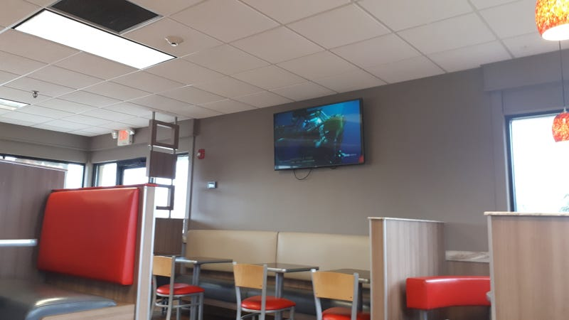 Illustration for article titled This Burger King is playing Blue Planet