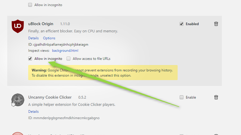 Enable Your Extensions In Incognito Mode For Safer, More