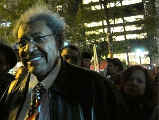 Illustration for article titled Don King Pops Down To Occupy Wall Street To Show Support, Famous Hair Erection