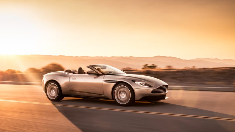 Illustration for article titled The 2018 Aston Martin DB11 Volante Looks Amazing Without A Roof