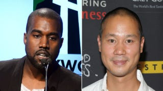 Kanye West; Zappos CEO Tony HsiehMark Davis/Getty Images; Michael Loccisano/Getty Images