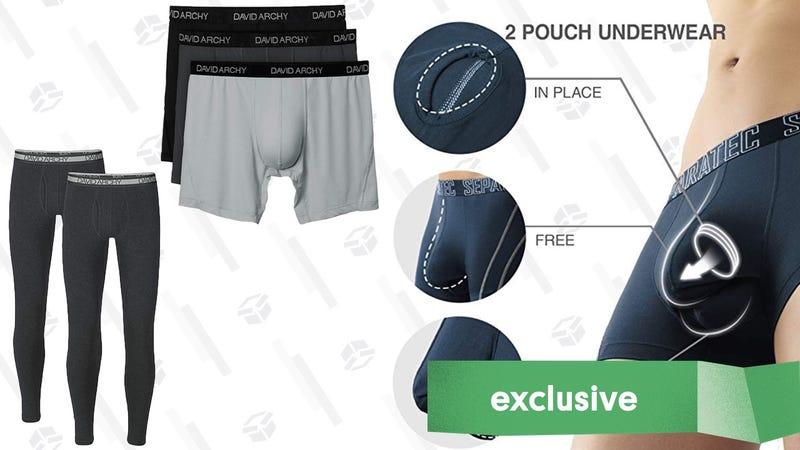 30% off David Archy Underwear, Robes, and Thermals | Amazon | Promo code BIGOFF3030% off Separatec Underwear | Amazon | Promo code BIGOFF30