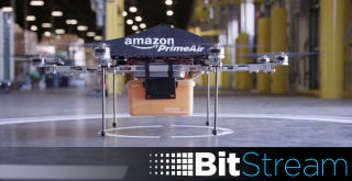 Illustration for article titled Amazon's Delivery Drones May Only Be a Year Away