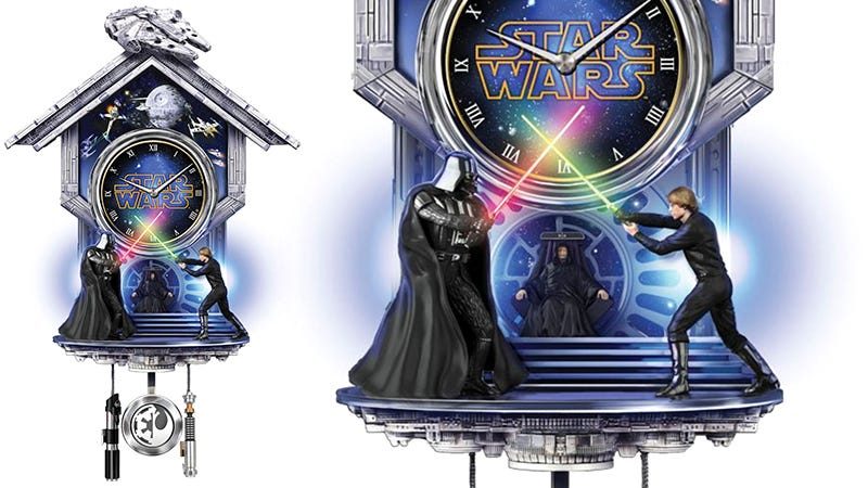 Illustration for article titled Pass the Time Waiting For Rogue One With This Totally Classy Star Wars Cuckoo Clock