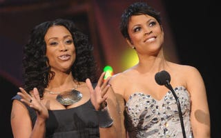 Basketball Wives' Tami Roman and Shaunie O'Neal (Rick Diamond/Getty Images)