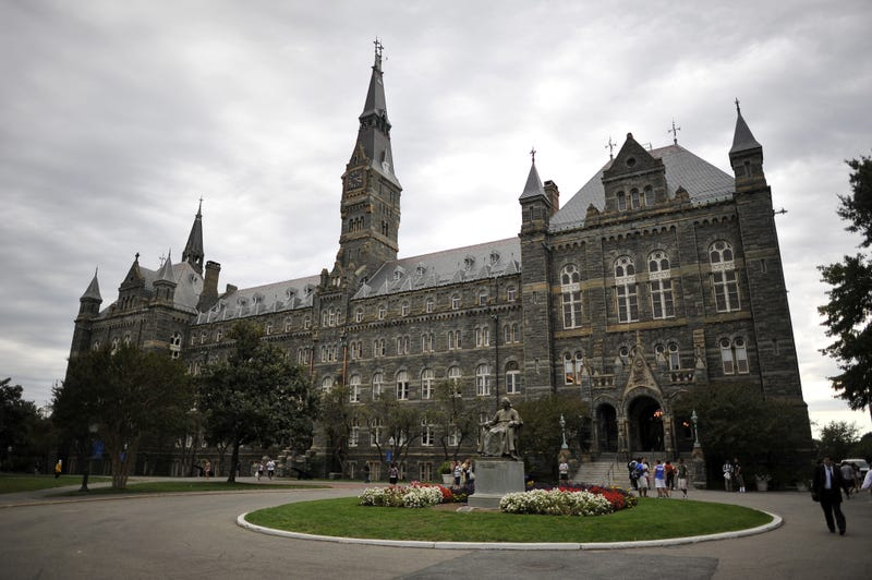 Healy Hall, the flagship building of Georgetown University's main campus in Washington, D.C.MLADEN ANTONOV/AFP/Getty Images