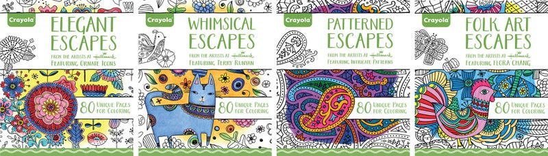 crayola now has its own line of coloring books for adults - Crayola Colouring Books