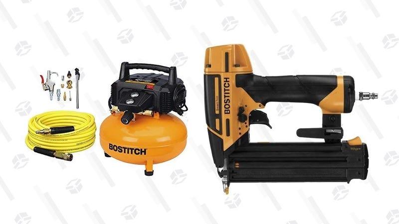 Compresor de aire Bostitch + pistola de clavos | $167 | AmazonGráfico: Shep McAllister
