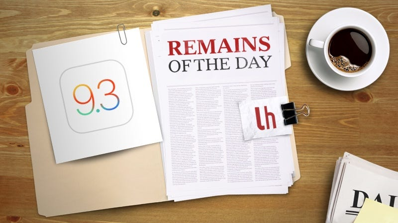 Illustration for article titled Remains of the Day: iOS 9.3 Beta Goes Public