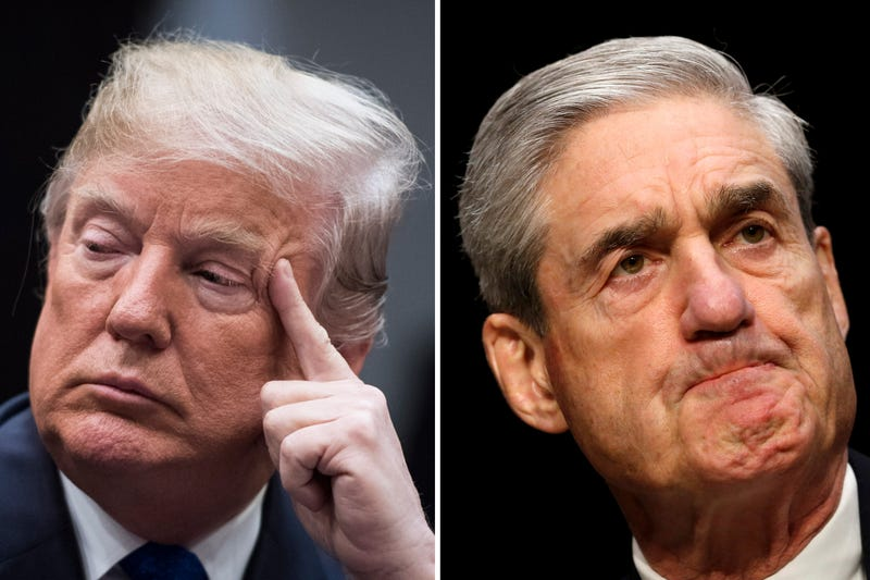 Left, President Donald Trump at the White House on Jan. 04, 2018. Robert Mueller on Capitol Hill in 2013