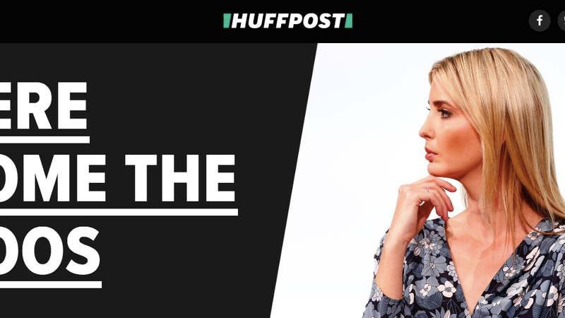 HuffPost's splashy new splash page.