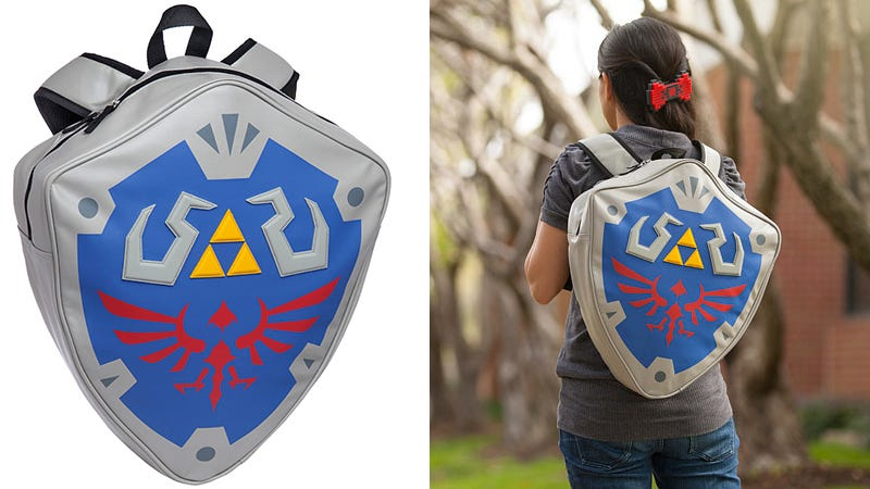 Illustration for article titled Legend of Zelda Shield Backpack Must Be How Link Carries All That Gear