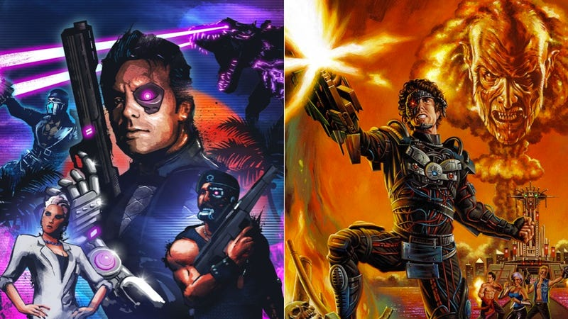 Illustration for article titled Far Cry 3: Blood Dragon and Manborg: Separated at Birth?