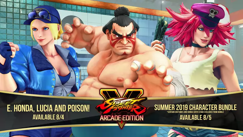 Illustration for article titled E. Honda, Poison, and Final Fight's Lucia Are Coming To Street Fighter V
