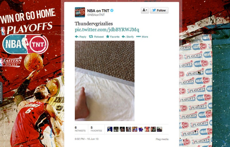 Illustration for article titled I Have No Idea What Is Going On With The NBA On TNT Twitter Account