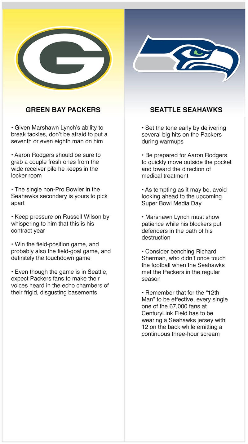 Illustration for article titled Keys To The Matchup: Packers vs. Seahawks