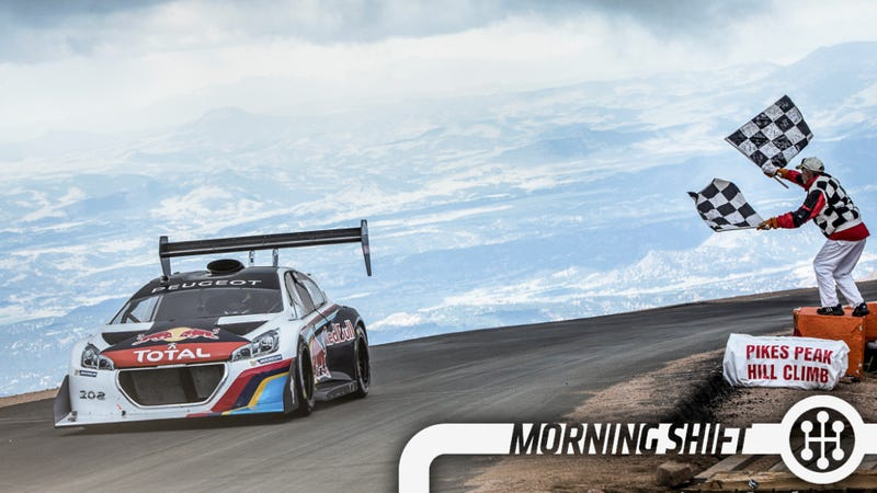 Illustration for article titled Electric Cars Get Murked As A French Hatch Rules Pikes Peak