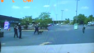 Police cruiser dashboard-camera screenshot of the incidentyoutube