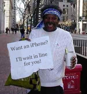Illustration for article titled Want an iPhone: Pay a Bum to Wait In Line
