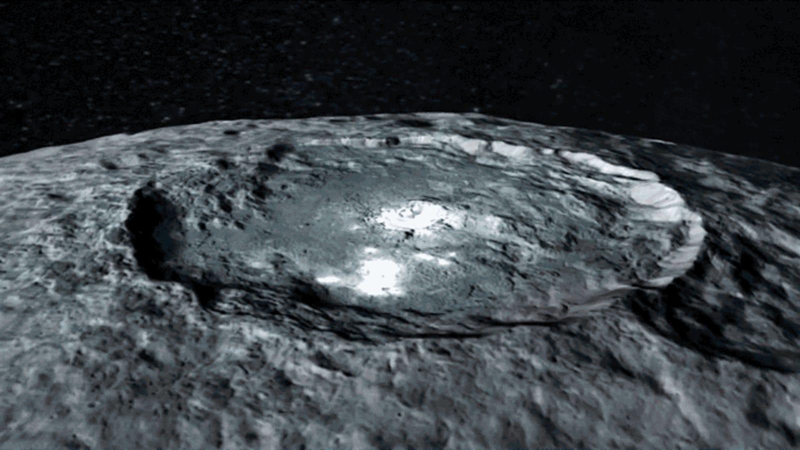 Un paseo relajado por Ceres nos descubre las tres tonalidades de su superficie