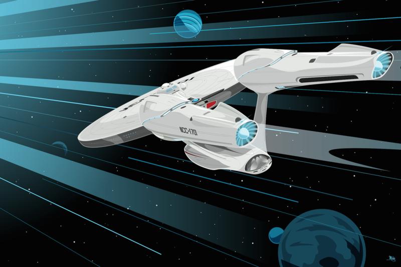 Mike Mahle's Star Trek art for Poster Posse. All Images: Poster Posse