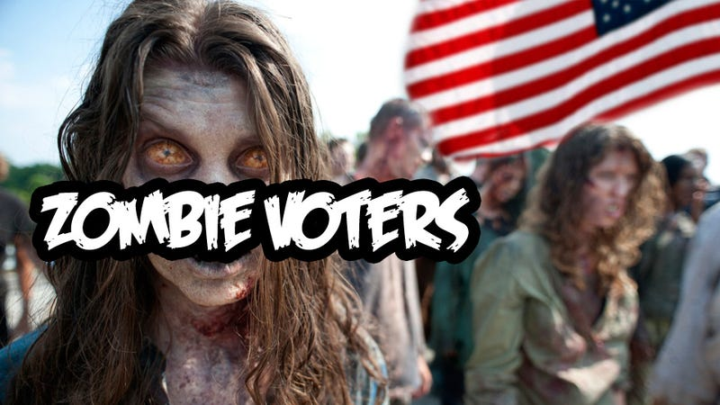 Illustration for article titled Two Million Dead Americans Can Vote, 51 Million Alive Americans Can't