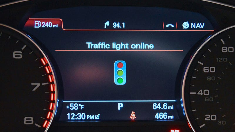 Illustration for article titled Audi's Traffic Light Assistance Ensures You Never Hit a Red Light